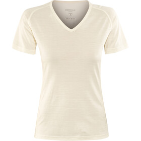 Devold Breeze Camiseta Cuello en V Mujer, blanco